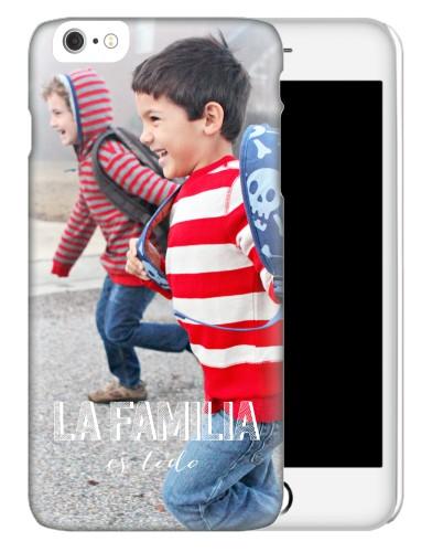 La Familia Es Todo iPhone Case, Slim case, Glossy, iPhone 6s Plus, White