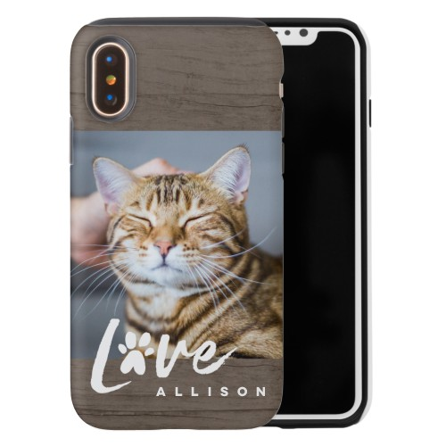 newest 31b54 393bc Rustic Love Paw iPhone Case by Shutterfly | Shutterfly