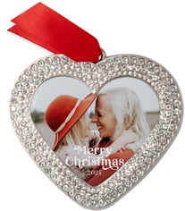 contemporary merry christmas jeweled ornament