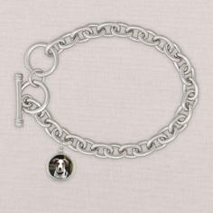 silver heather bracelet