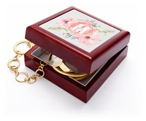 floral initial keepsake box