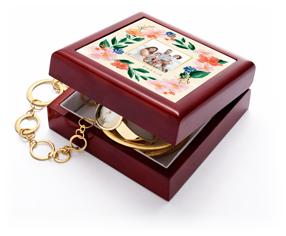 floral frame keepsake box