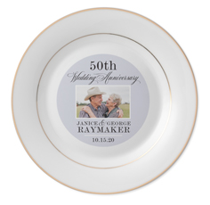 classic anniversary keepsake plate