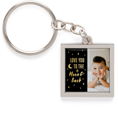 to the moon and back pewter key ring