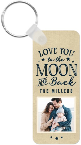 To The Moon and Back Script Key Ring