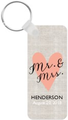 mr and mrs key ring