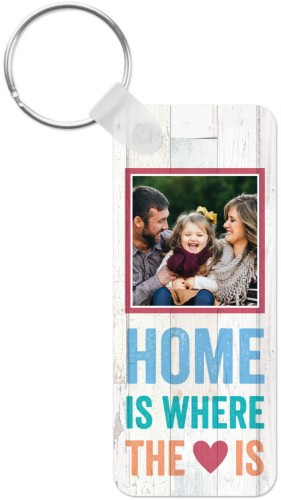 Colorful Quote Key Ring, Rect, Beige