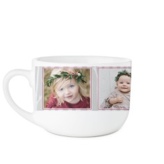 rustic birch latte mug