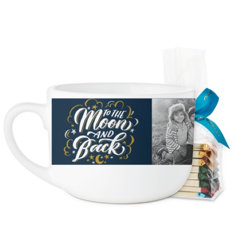 Whimsy To The Moon Script Latte Mug