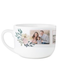 mothers floral quote latte mug