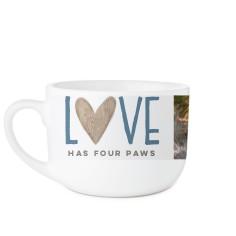 rustic love paws latte mug