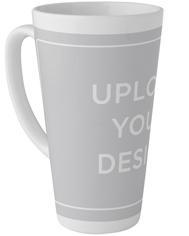 upload your own design tall latte mug