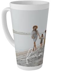 family script tall latte mug