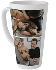 your text here double photo tall latte mug