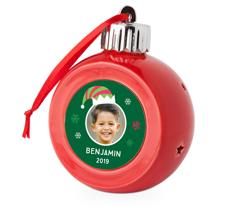 christmas elf light up ornament