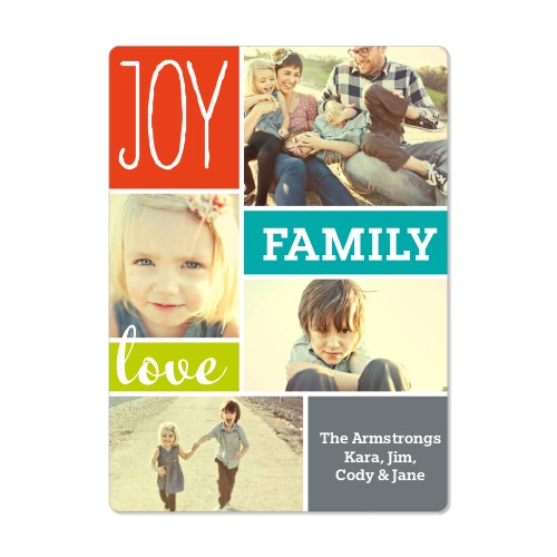 Joy Love Family Magnet