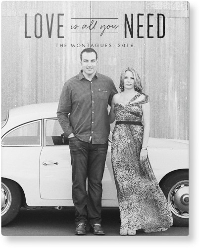 Love Is All You Need Metal Wall Art, Single piece, 8 x 10 inches, True Color / Matte, Black