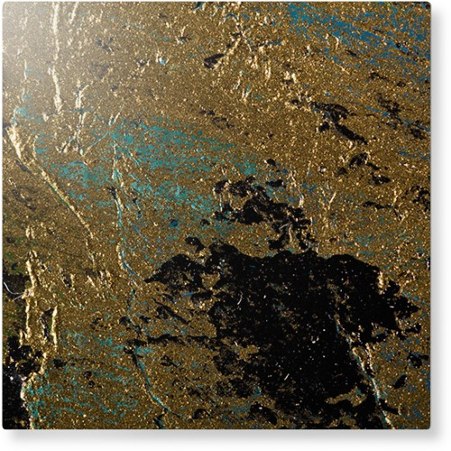 Brushed Printed Foil Metal Wall Art, Single piece, 12 x 12 inches, True Color / Glossy, Multicolor