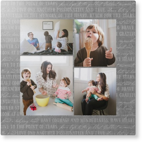 Overlap Photo Gallery of Four Metal Wall Art, Single piece, 12 x 12 inches, True Color / ...