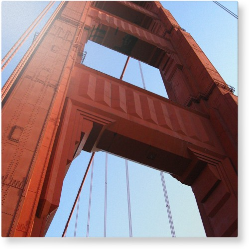 Photo Gallery Portrait Metal Wall Art, Single piece, 16 x 16 inches, True Color / Glossy, ...