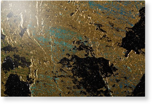 Brushed Printed Foil Metal Wall Art, Single piece, 24 x 36 inches, True Color / Glossy, Multicolor