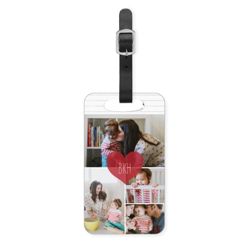Heart Monogram Luggage Tag