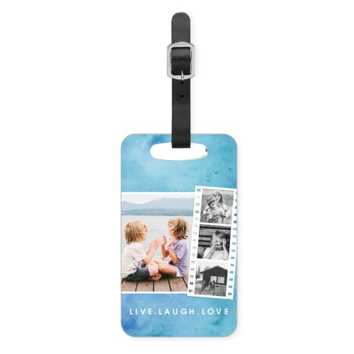 Watercolor Filmstrip Collage Luggage Tag