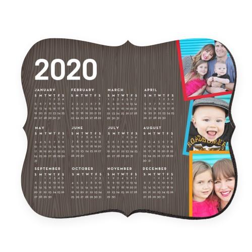 Tilty Woodgrain Calendar Mouse Pad
