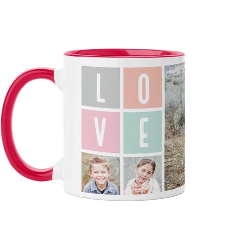 Love Mug, Red,  , 11 oz, Pink