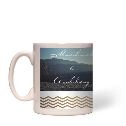 Chevron Border Mug