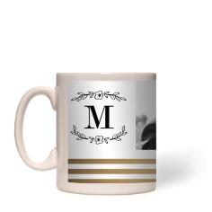 flourish striped border mug