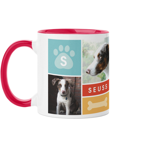 Colorful Pet Collage Mug