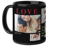 colorful love joy family mug