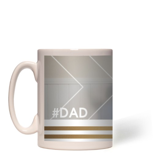 Dad Striped Border Mug