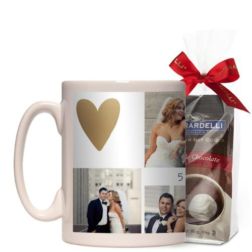 Love Is All You Need Mug, White, with Ghirardelli Premium Hot Cocoa, 15 oz, goldfoil