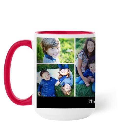 Simply Family Mug, Red,  , 15 oz, Black