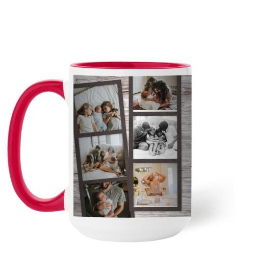 Family Filmstrips Mug, Red,  , 15 oz, Brown