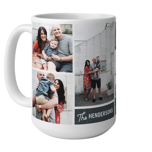 Family Faith Love Mug, White,  , 15 oz, Blue