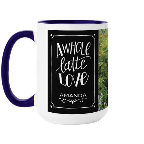Whole Latte Love Mug, Blue,  , 15 oz, Black
