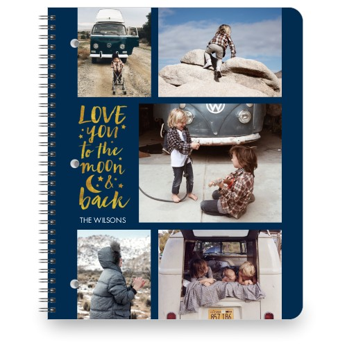 To The Moon And Back Grid Collage Large Notebook By Shutterfly