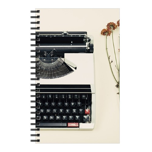 Classic Typewriter 5x8 Notebook, 8x5, Multicolor