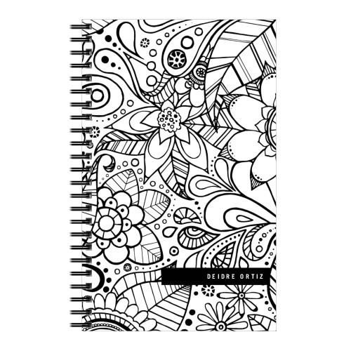 Color Me Floral 5x8 Notebook, 8x5, White