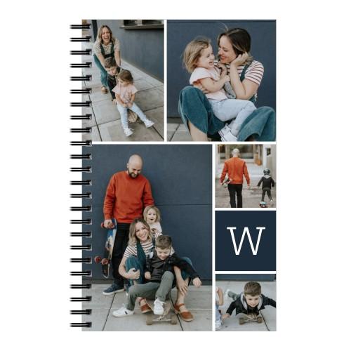 Gallery Monogram 5x8 Notebook, 8x5, Multicolor
