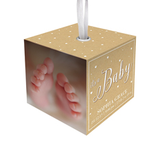 its a baby cube ornament