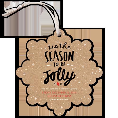 Jolly Season Holiday Invitation
