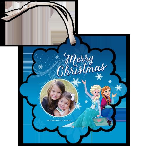 Disney Frozen Snowflake Christmas Card