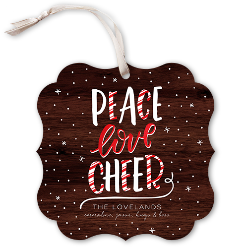 Candy Cane Peace Holiday Card, Square