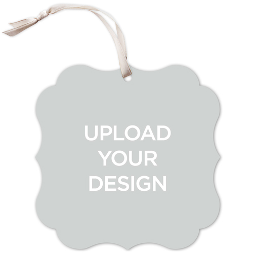 Upload Your Own Design Bracket Christmas Card, Square