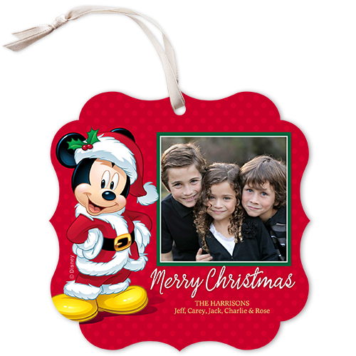 Disney Mickey Mouse Bracket Christmas Card