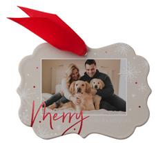 merry craft metal ornament